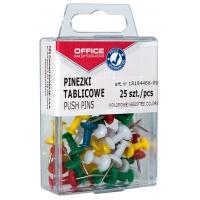 Pinezki kolorowe beczułki OFFICE PRODUCTS, w pudełku, 25szt., mix kolorów, Promocje, ~ Nagrody