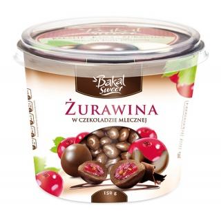 Kubek żurawiny w czekoladzie mlecznej BAKAL Sweet, 150g, Przekąski, Artykuły spożywcze