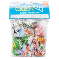 Naklejki piankowe BAKER ROSS, zwierzęta z dżungli, 96szt., mix kolorów, Produkty kreatywne, Artykuły szkolne