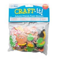 Naklejki piankowe BAKER ROSS, las, 105szt., mix kolorów, Produkty kreatywne, Artykuły szkolne