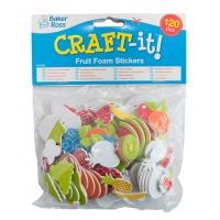 Naklejki piankowe BAKER ROSS, owoce, 120szt., mix kolorów, Produkty kreatywne, Artykuły szkolne