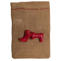 Gift sack, FOLIA PAPER, with boots, 17x25cm, natural