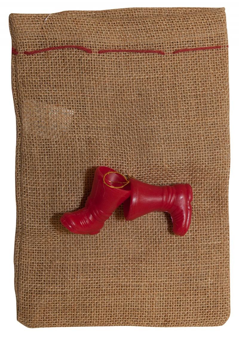 Worek na prezenty FOLIA PAPER, z butami, 17x25cm, naturalny, Produkty kreatywne, Artykuły szkolne