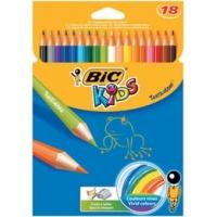 Kredki BIC Tropicolors, ołówkowe, 18 kol., Plastyka, Artykuły szkolne