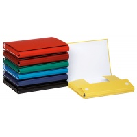 File with velcro closure, OFFICE PRODUCTS, PP, A4/4cm, 3 flaps, assorted colours