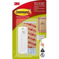 Haczyki Command™ (17040 PL), do ramek z uchwytem, 1 haczyk i 2 duże paski, białe, Haczyki, Prezentacja