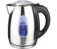 Electric kettle ADLER AD 1223, 1.7 l, metal, silver
