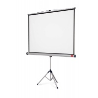 NOBO projection screen on tripod, 4:3, 1500x1138mm, white