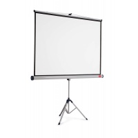 NOBO projection screen on tripod, 4:3, 1750x1325mm, white