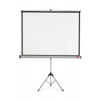 NOBO projection screen on tripod, 4:3, 2000x1513mm, white