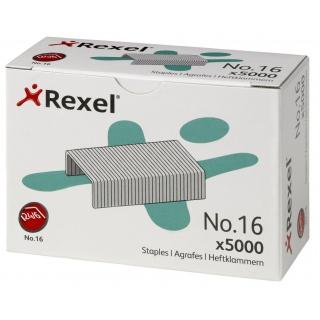 Zszywki REXEL nr 16, 24/6, 5000szt., srebrne, Zszywki, Drobne akcesoria biurowe
