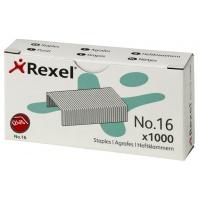 Zszywki REXEL nr 16, 24/6, 1000szt., srebrne, Zszywki, Drobne akcesoria biurowe