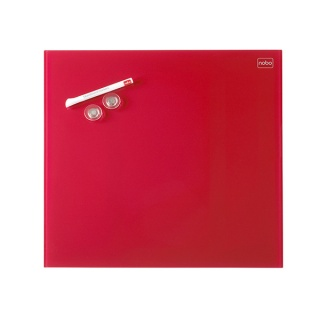 Tablica suchoś. -magn. NOBO Diamond, 30x30cm, szklana, czerwona, Tablice suchościeralne, Prezentacja