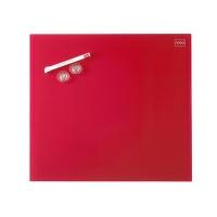 Tablica suchoś. -magn. NOBO Diamond, 45x45cm, szklana, czerwona, Tablice suchościeralne, Prezentacja