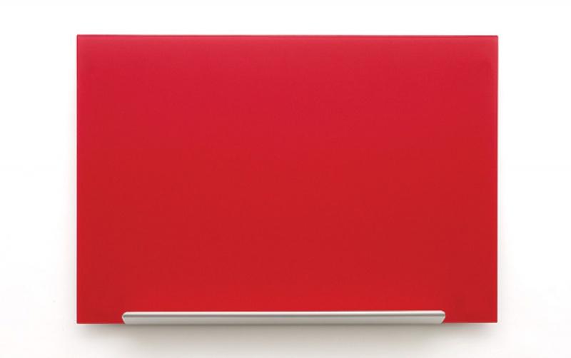 Tablica suchoś. -magn. NOBO Diamond, 99,3x55,9cm, szklana, czerwona, Tablice suchościeralne, Prezentacja