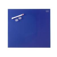 Tablica suchoś. -magn. NOBO Diamond, 45x45cm, szklana, niebieska, Tablice suchościeralne, Prezentacja