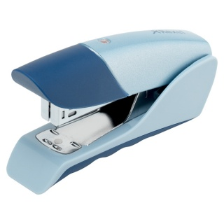 Zszywacz REXEL Gazelle, zszywa do 25 kartek, srebrno-niebieski, Zszywacze, Drobne akcesoria biurowe