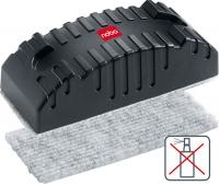 Gąbka do tablicy NOBO, magnetyczna, z wymiennym wkładem, czarna, Bloki, magnesy, gąbki, spraye do tablic, Prezentacja