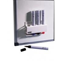 Przybornik magnetyczny NOBO, na markery, biały, Przyborniki na biurko, Drobne akcesoria biurowe