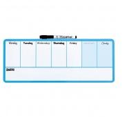 Planer tygodniowy NOBO, suchoś. -magn., 14x36cm, niebieski, Planery, Prezentacja