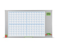 Monthly planner, NOBO Performance Plus, dry-wipe & magnetic, 104x60cm