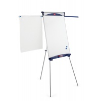 Flipchart, on tripod, NOBO Classic (Shark), 68.5x100cm, dry-wipe&magnetic board, with retractable arms