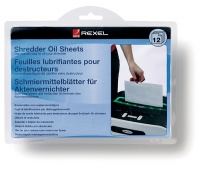 REXEL lubrication sheets, for shredders, 12 pcs