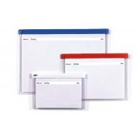 Torebka z suwakiem REXEL, PVC, A5, transparentna, Torebki, Archiwizacja dokumentów