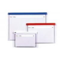 Torebka z suwakiem REXEL, PVC, A4, transparentna, Torebki, Archiwizacja dokumentów