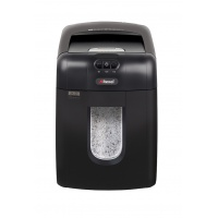 Automatic REXEL Auto+ 130M EU shredder; micro cuttings, P-5, 130 sheets, 26l, credit cards, black