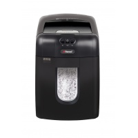 Automatic REXEL Auto+ 130X EU shredder, confetti, P4, 130 sheets, credit cards, black