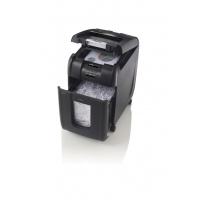 Niszczarka automatyczna REXEL Auto+ 200X, konfetti, P-4, 200 kart., 32l, karty kredytowe/CD, czarna, Niszczarki, Urządzenia i maszyny biurowe