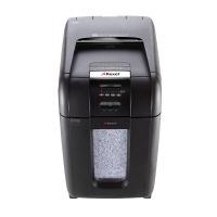Niszczarka automatyczna REXEL Auto+ 300M, mikro ścinki, P-5, 300 kart., 40l, karty kredytowe/CD, czarna, Niszczarki, Urządzenia i maszyny biurowe