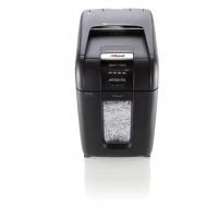 Niszczarka automatyczna REXEL Auto+ 300X, konfetti, P-4, 300 kart., 40l, karty kredytowe/CD, czarna, Niszczarki, Urządzenia i maszyny biurowe