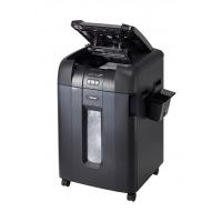 Niszczarka automatyczna REXEL Auto+ 600X, konfetti, P-4, 600 kart., 80l, karty kredytowe/CD, czarna, Niszczarki, Urządzenia i maszyny biurowe