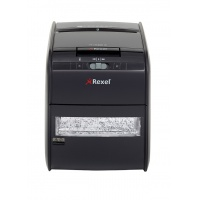 Automatic REXEL Auto+ 60X shredder, confetti, P-3, 60 sheets, 15l, credit cards, black