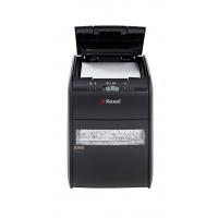 Niszczarka automatyczna REXEL Auto+ 90X EU, konfetti, P-3, 90 kart., 20l, karty kredytowe, czarna, Niszczarki, Urządzenia i maszyny biurowe