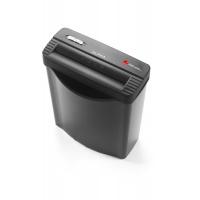 Niszczarka REXEL Alpha, paski, P-1, 5 kart., 10l, karty kredytowe, czarna, Niszczarki, Urządzenia i maszyny biurowe