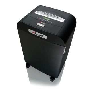 Niszczarka REXEL Mercury RDS2250, paski, P-2, 22 kart., 50l, karty kredytowe/CD, czarna, Niszczarki, Urządzenia i maszyny biurowe