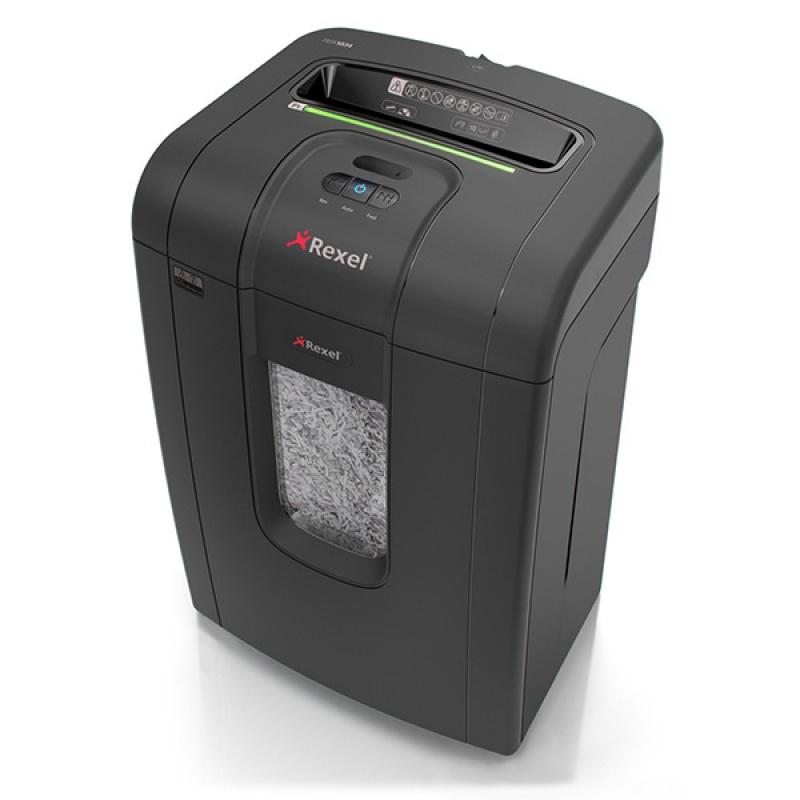 Niszczarka REXEL Mercury RSX1834, konfetti, P-4, 18 kart., 34l, karty kredytowe/CD, czarna, Niszczarki, Urządzenia i maszyny biurowe