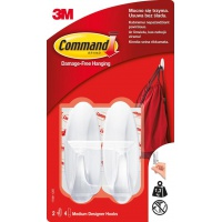 Haczyki wielokrotnego użytku COMMAND™ (W17081 B PL), wodoodporne, białe, Haczyki, Prezentacja