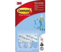 Haki wielokrotnego użytku COMMAND™ (17092CLR PL), małe, 2 szt., transparentne, Haczyki, Prezentacja