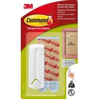 Haczyki Command™ (17041 PL), do ramek z linką, 1 haczyk i 2 duże paski, białe, Haczyki, Prezentacja