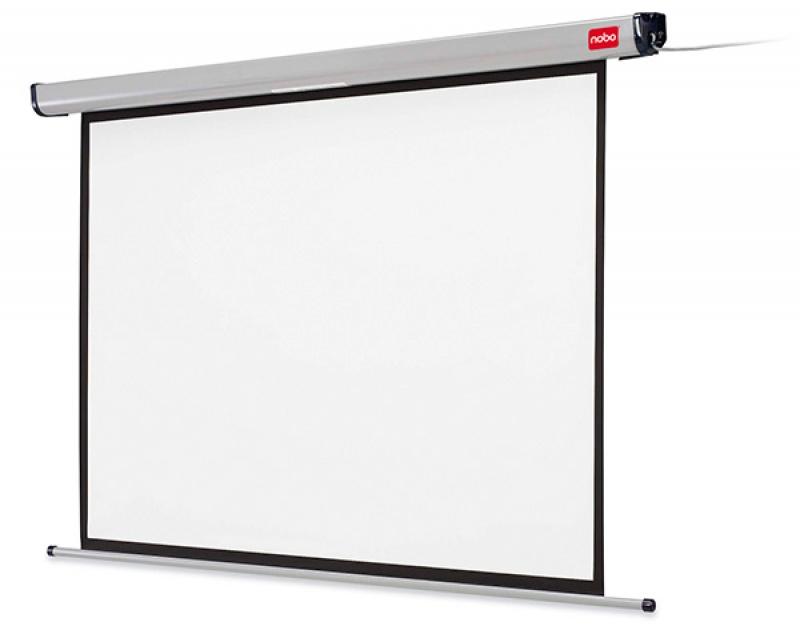 Ekran projekcyjny NOBO, ścienny, elektryczny, 4:3, 1920x1440mm, biały, Ekrany, Prezentacja
