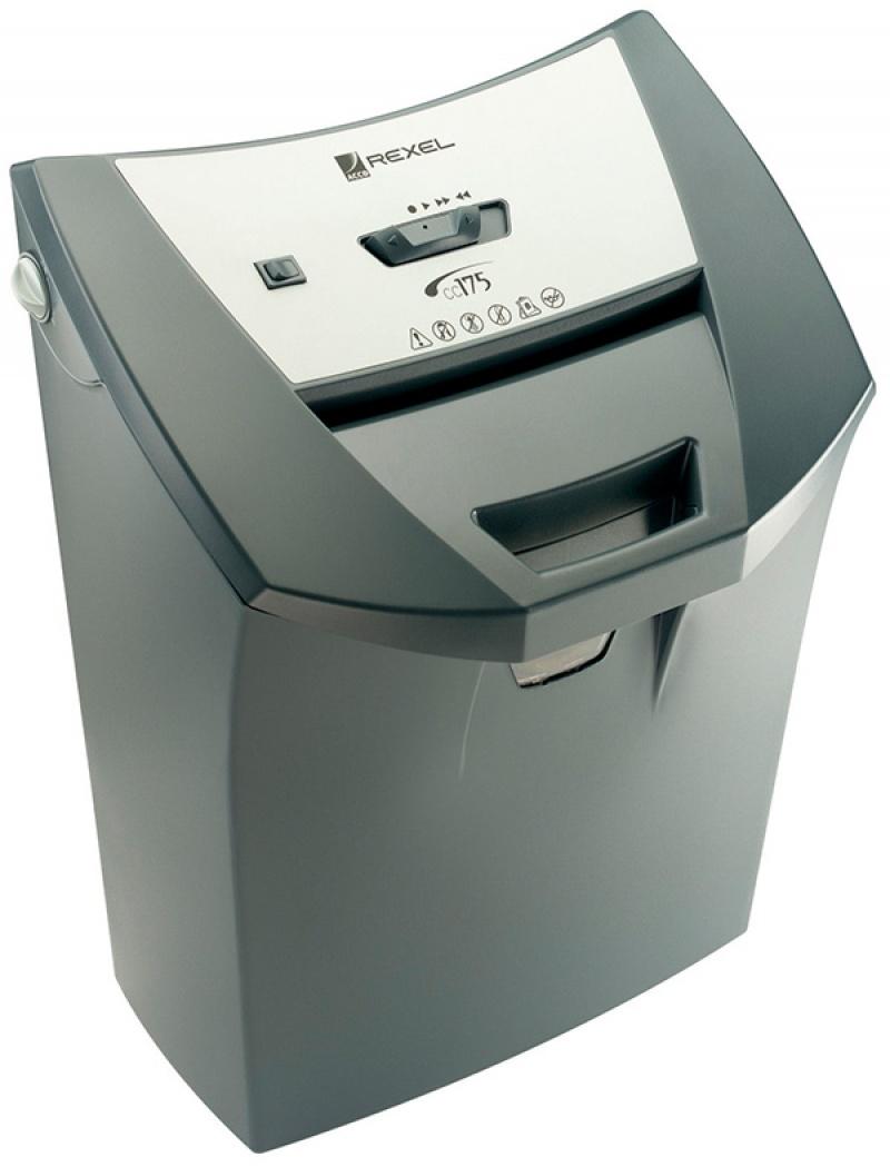 Niszczarka REXEL Easyfeed CC175, konfetti, P-3, 9 kart., 22l, karty kredytowe, czarna, Niszczarki, Urządzenia i maszyny biurowe