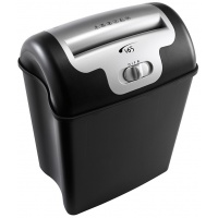 REXEL Promax V65WS shredder, confettim P-4, 6 sheets, credit cards, 23 l, black