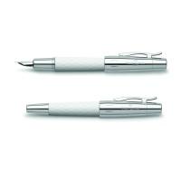 Pióro wieczne Faber-Castell E-Motion Rhombus White F, Pióra wieczne, Przybory do pisania i korygowania