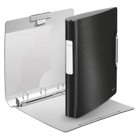 Segregator ringowy Leitz Style, 4DR/30mm Softclick, czarny, Segregatory, Archiwizacja dokumentów