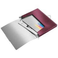 Teczka z gumką Leitz Style, 30 mm, ciemnoczerwony, Teczki, Archiwizacja dokumentów