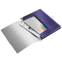 Teczka z gumką Leitz Style, 30 mm, niebieski, Teczki, Archiwizacja dokumentów